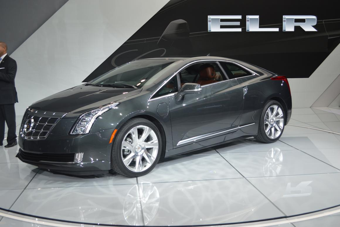 Cadillac's Volt-based 2014 ELR plug-in hybrid at NAIAS in Detroit