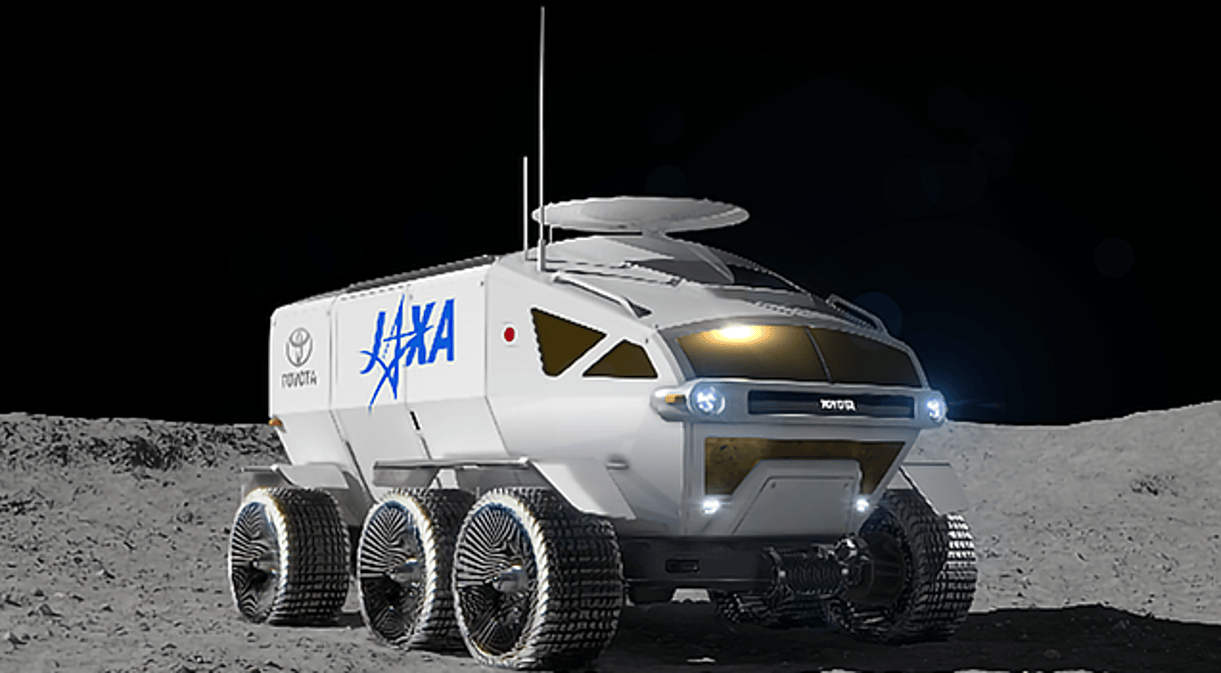 Artist's concept of the JASA/Toyota lunar rover