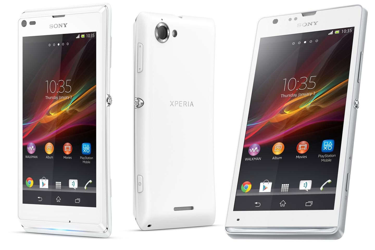 The Xperia L (left) and SP (right)
