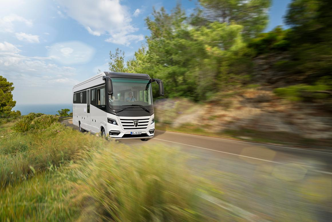 Palace luxury motorhome whisks you and your Smart car away