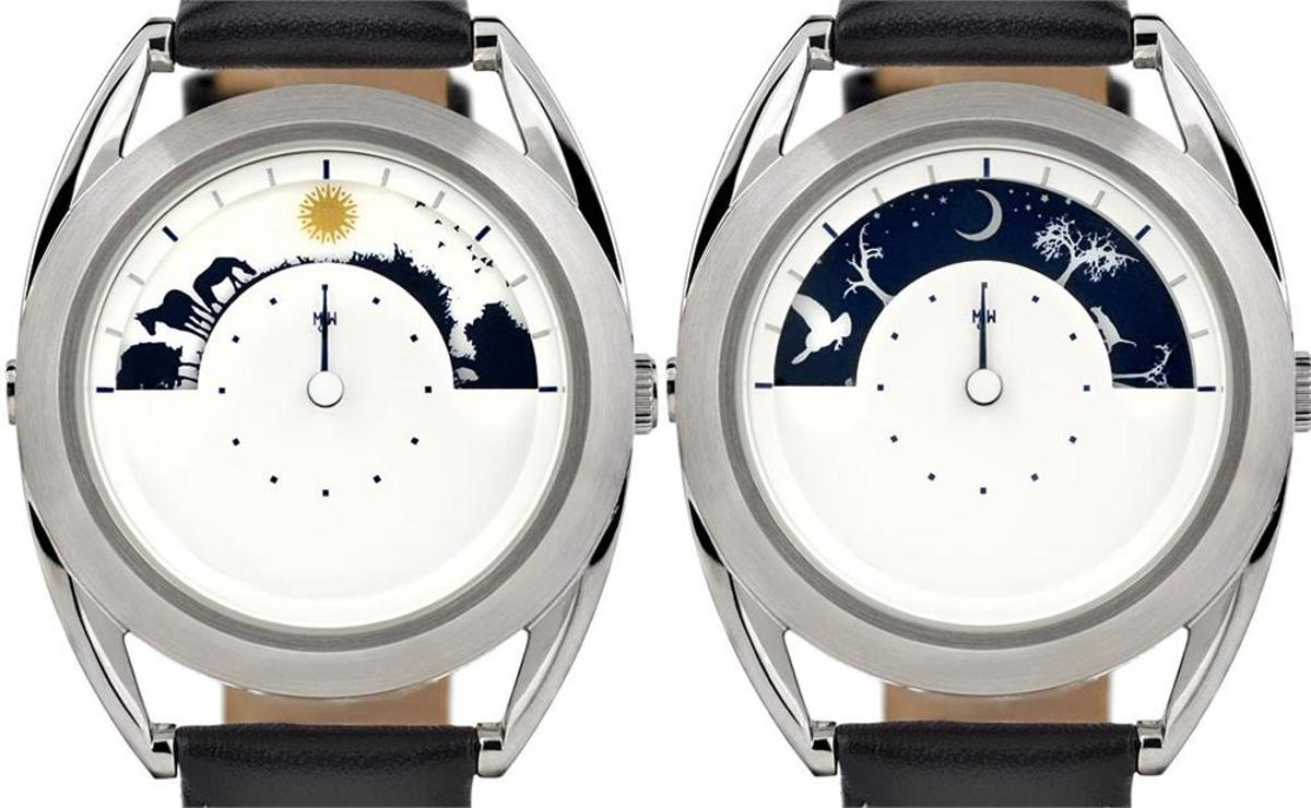 The Sun and Moon Watch replaces numbers with visual representations of day and night