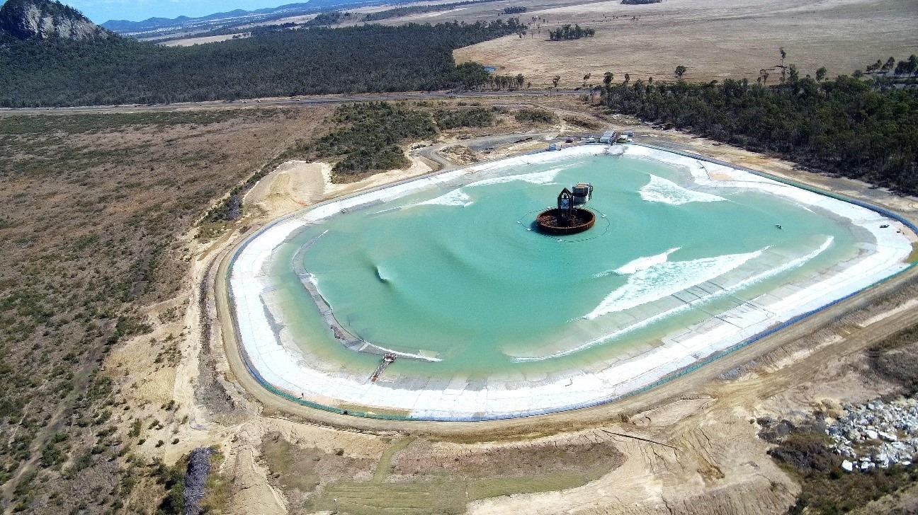 Surf Lakes' functioning 5 Waves prototype, in the town of Yeppoon