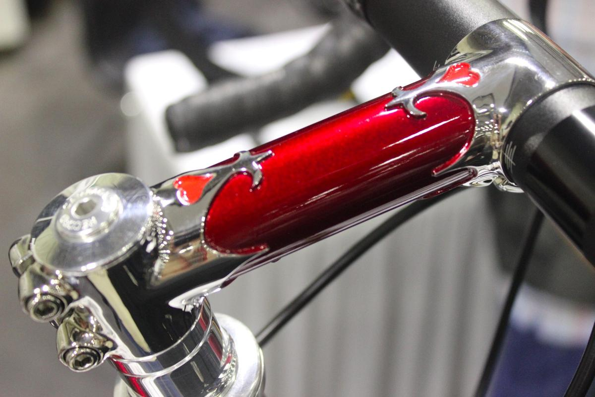 This stunning stem from Bellon Handmade Bicycle was just one of the treasures on display at NAHBS 2016