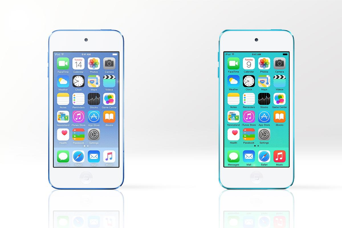 Gizmag compares the features and specs of the new 6th-generation iPod touch (left) with the older 5th-generation model