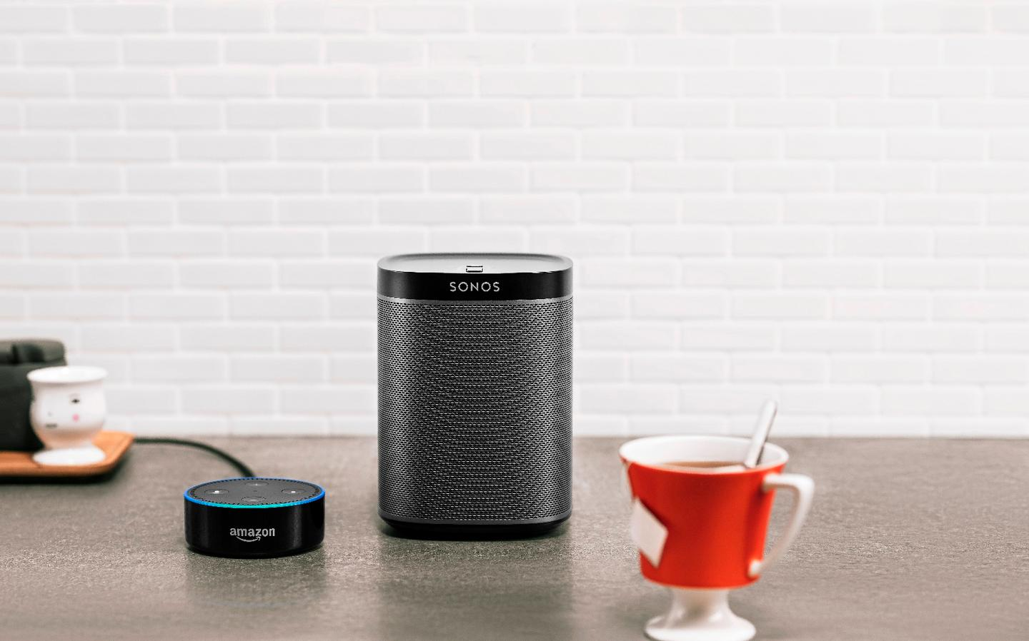 Existing Sonos speakers are compatible with Amazon Echo and Dot devices