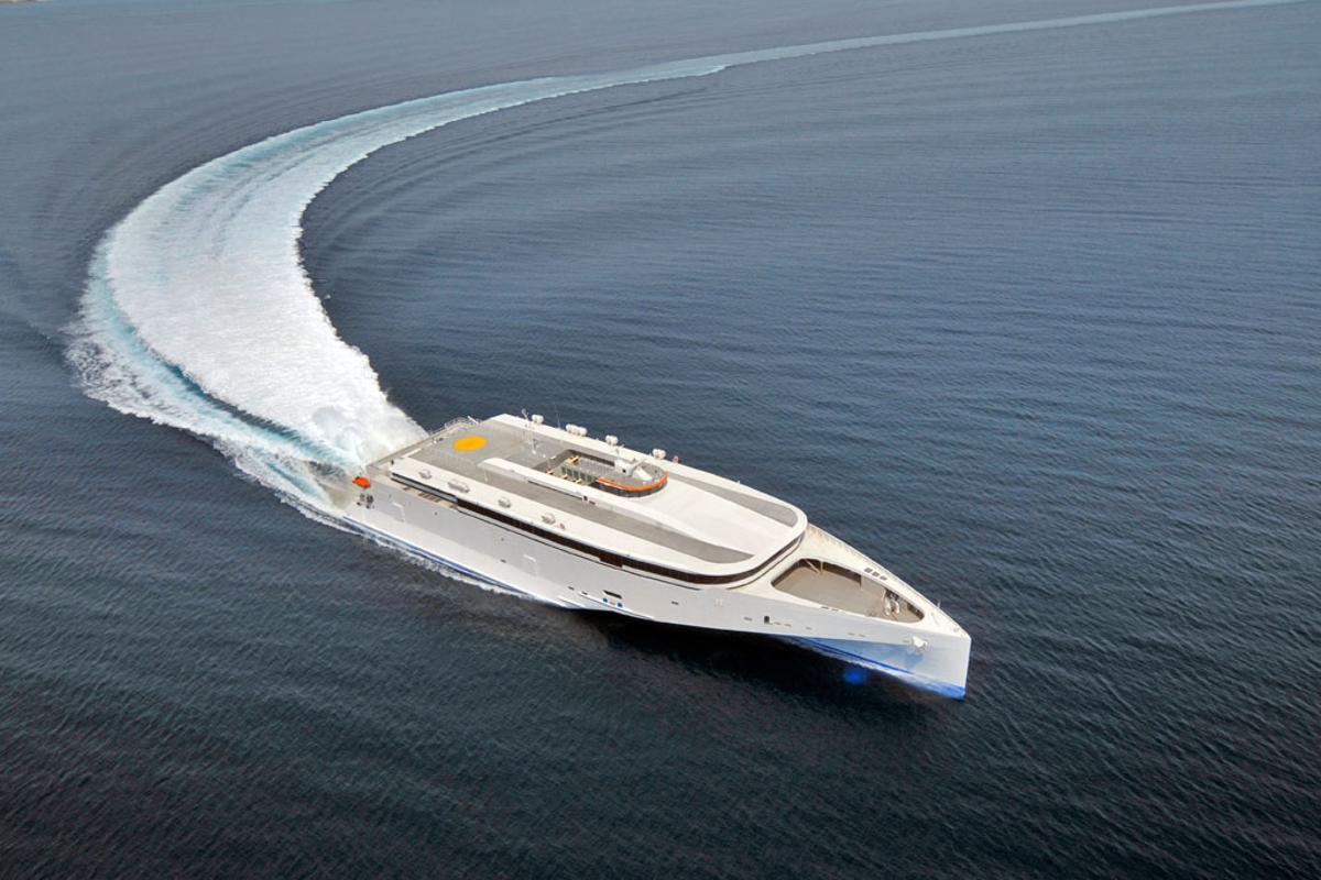 The Austal 102 Trimaran has impressed during sea trials