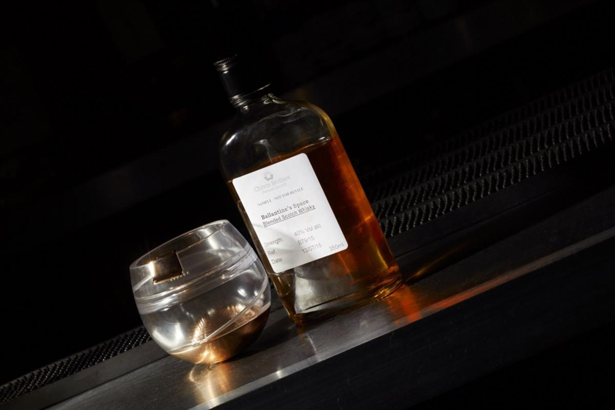 Ballantine's Space Glass allows astronauts to sip whisky the same way they would on Earth.