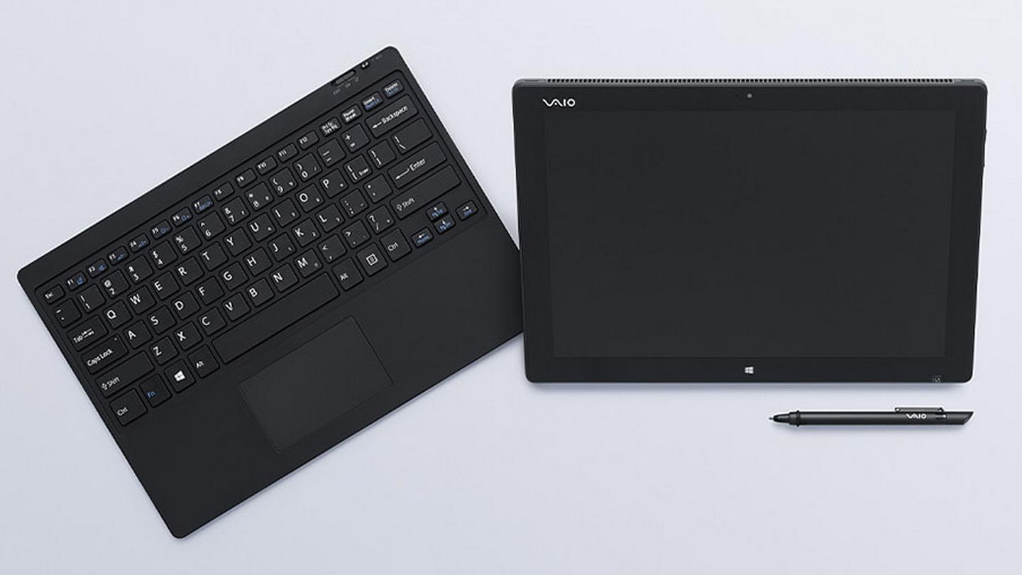 The system consists of a tablet, wireless keyboard and stylus