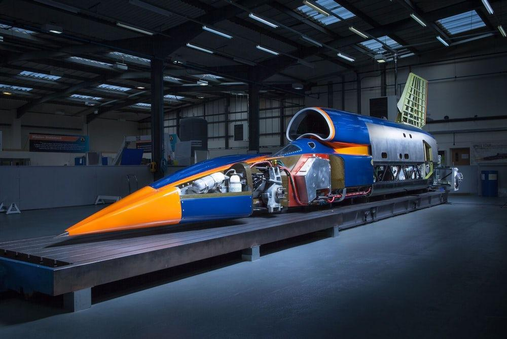 The Bloodhound Supersonic Car is designed to eventually cross the 1,000-mph (1,600-km/h) threshold