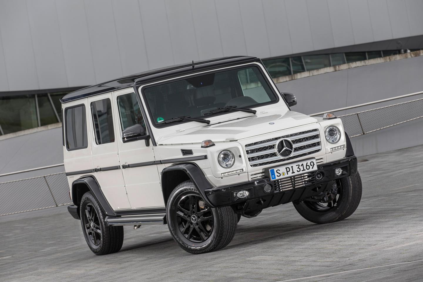 The G-Class Edition 35 features black highlights on the front and rear bumpers