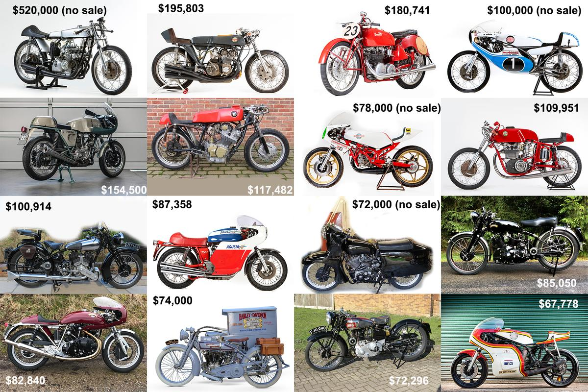 While collectible automobile industry sales have seemingly taken a vacation as auctions have been forced online, the collectible motorcycle industry seems as robust as ever