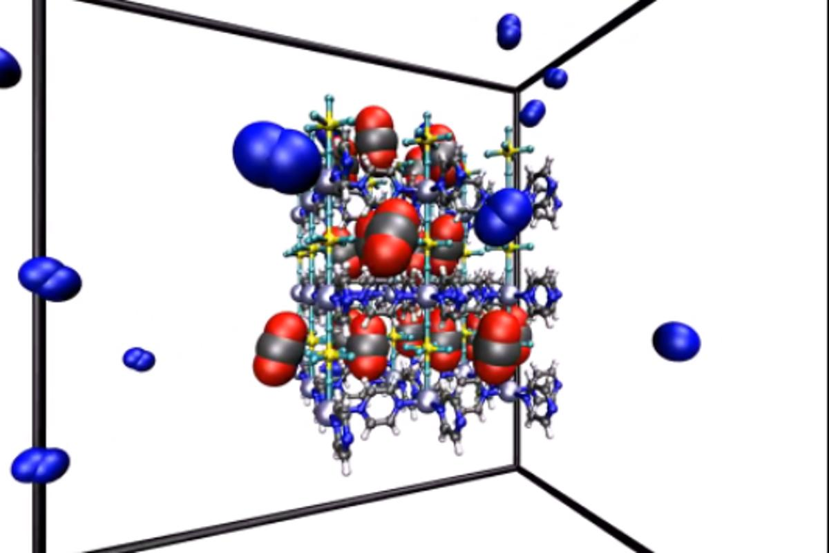 Researchers have developed a new metal organic framework material that makes carbon capture more energy efficient