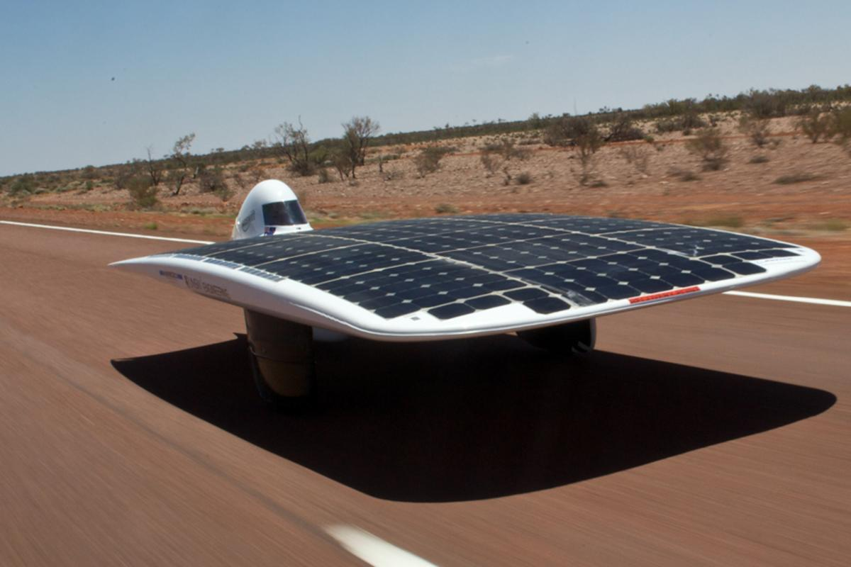 The Sunswift IVy during the 2009 Global Green Challenge