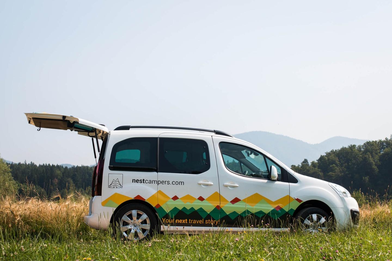 Nest offers a fun, nimblemini-camper built on theCitroënBerlingo Multispace