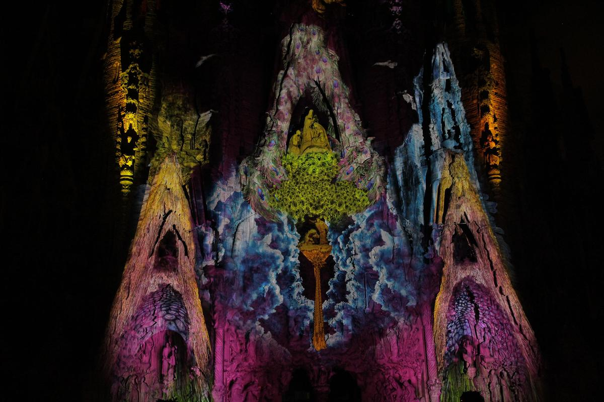 The Sagrada Família as it's never been seen before (Photo: Moment Factory)