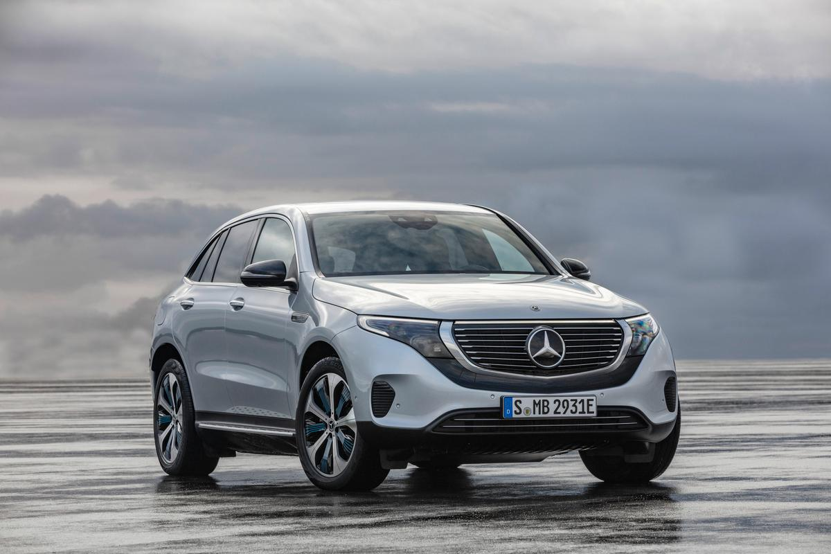 Mercedes-Benz EQC: conservative frontal design