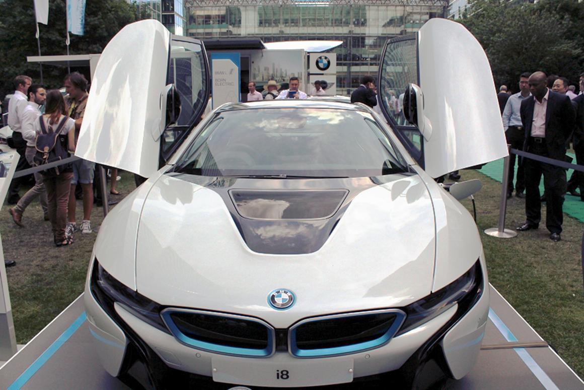 The BMW i8 electric sports car