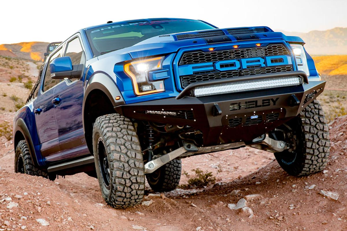 The ShelbyRaptor builds on the base of the already-tough Ford Raptor