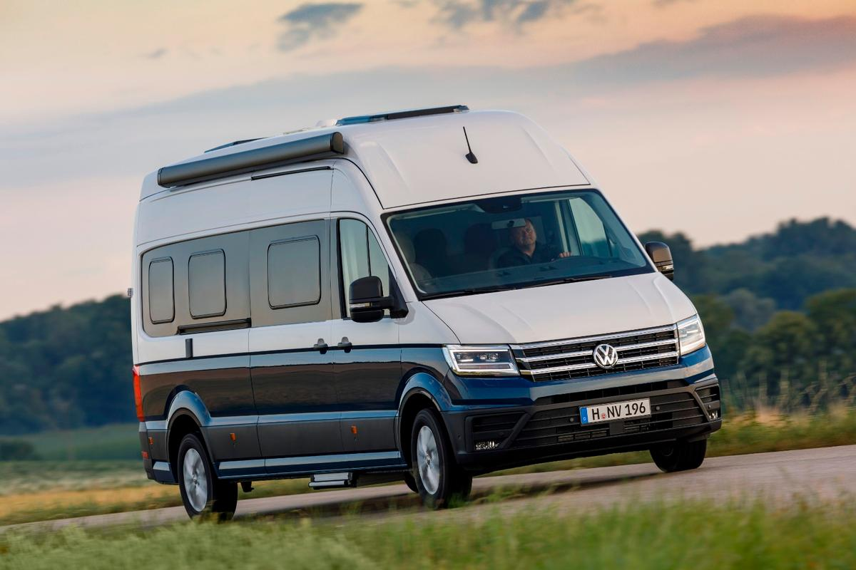 Volkswagen's Grand California 680 comes with up to six camper cabin windows