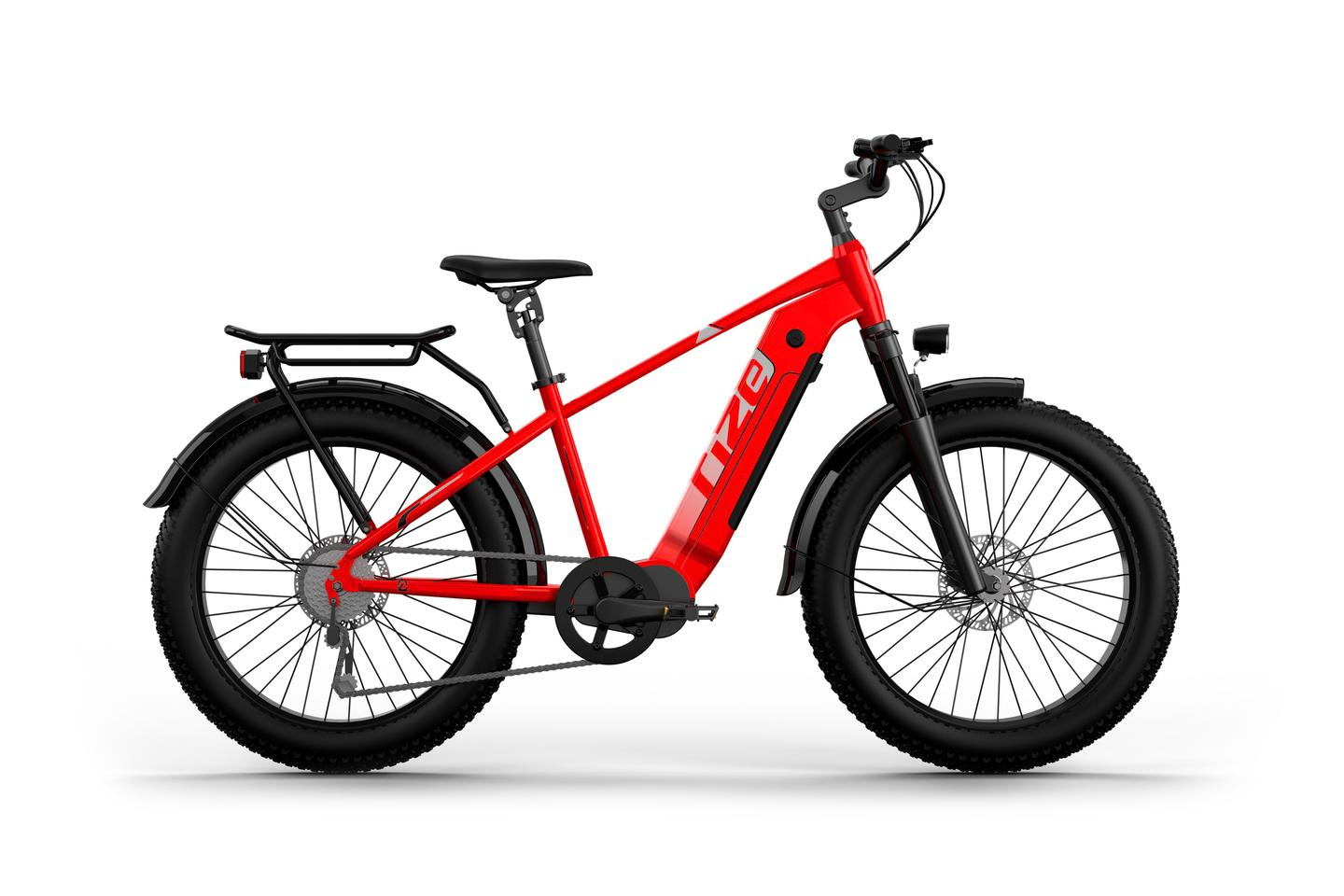 The RX Pro features a 1500W (peak) mid-drive motor and can be used in a dual battery configuration for up to 90 miles of range per charge