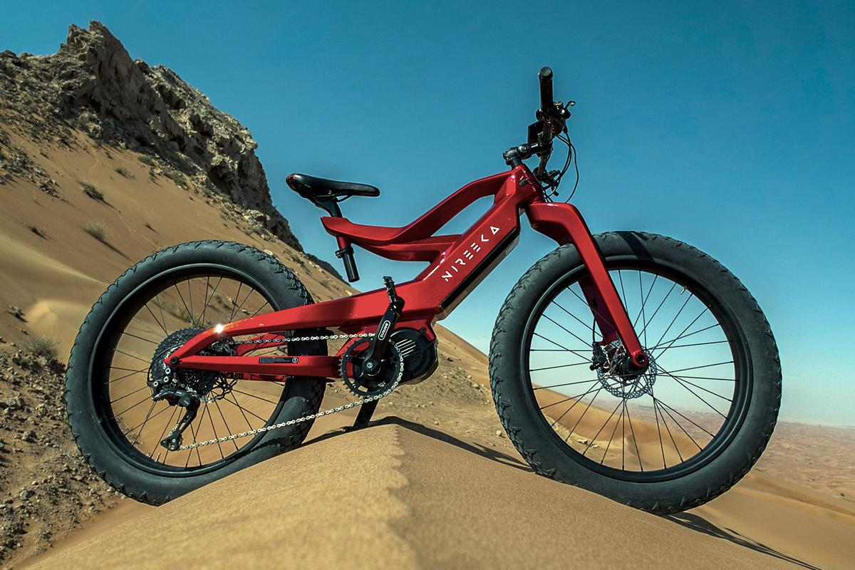 The Nireeka Prime is another gorgeous carbon-framed e-bike, this time with a powerful mid-drive motor