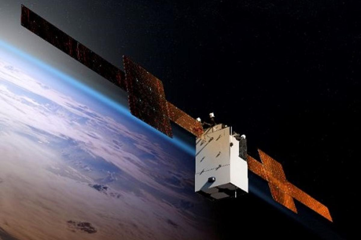 Artist's concept of the WGS-11+ satellite