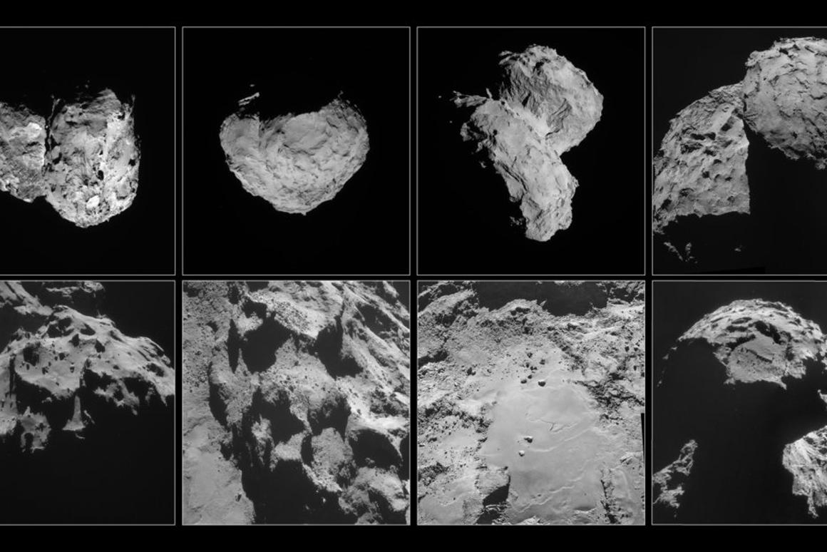 Various angles of 67P snapped by ESA's Rosetta spacecraft
