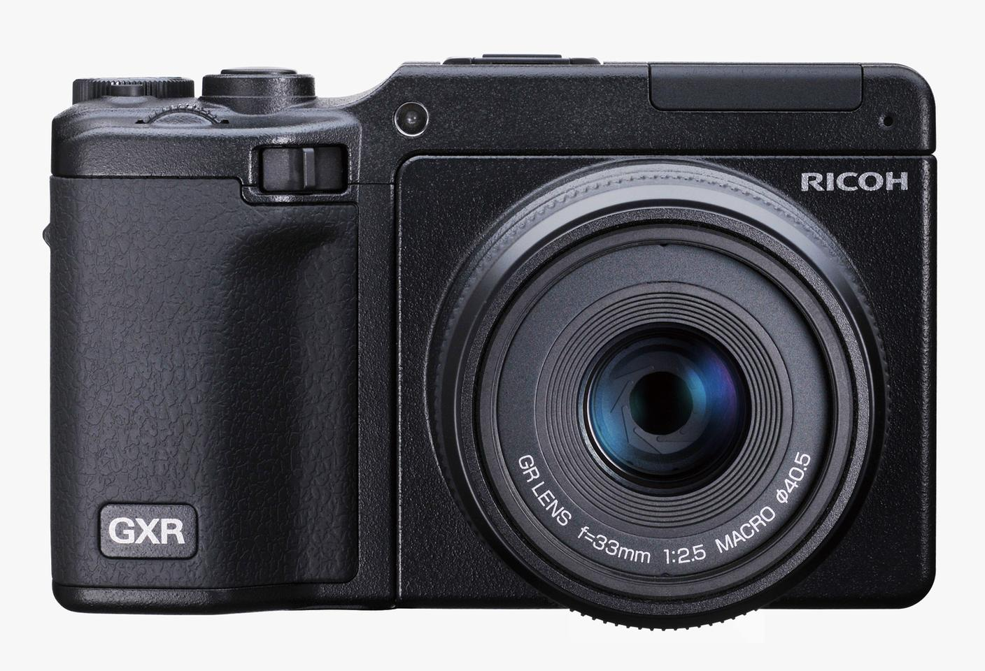 The front of the Ricoh GXR system, including lens unit