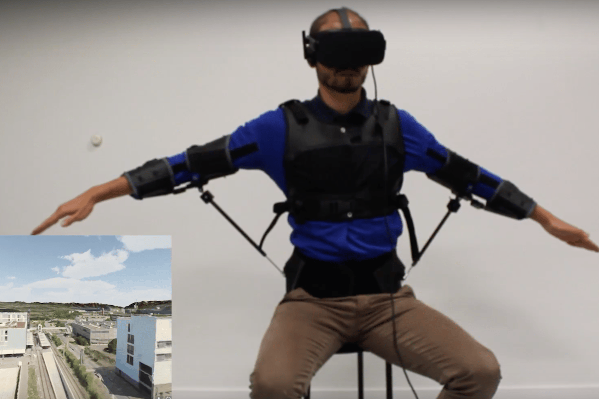 A new way to fly? The FlyJacket exoskeleton in action