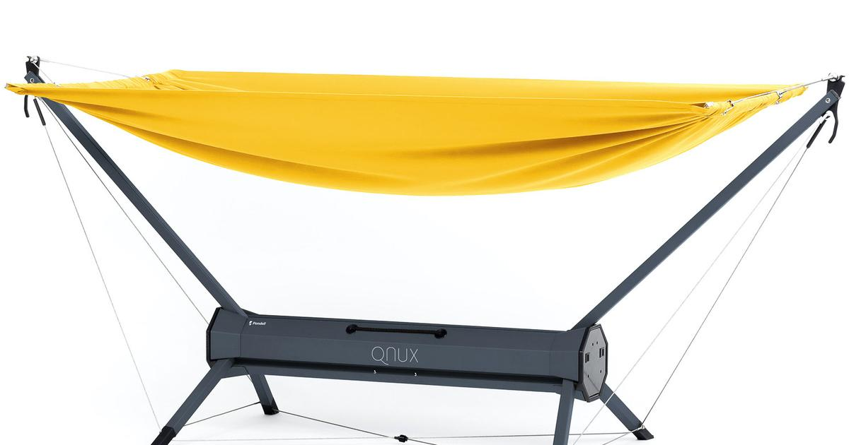 Portable hammock incorporates its own carrying case
