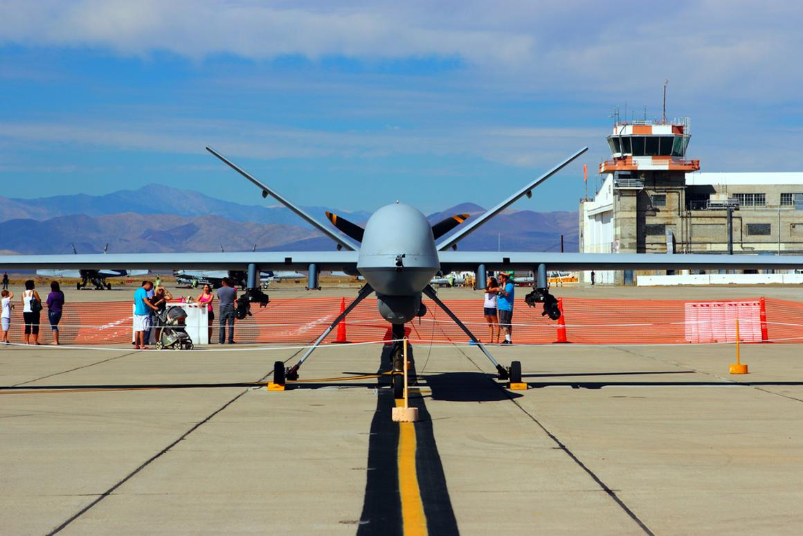 A General Atomics MQ-9 (aka Predator B, Reaper or Guardian) UAV drone's flight duration could be increased from days to months with the addition of a nuclear power source according to recent military research (Photo: Justin Ennis)
