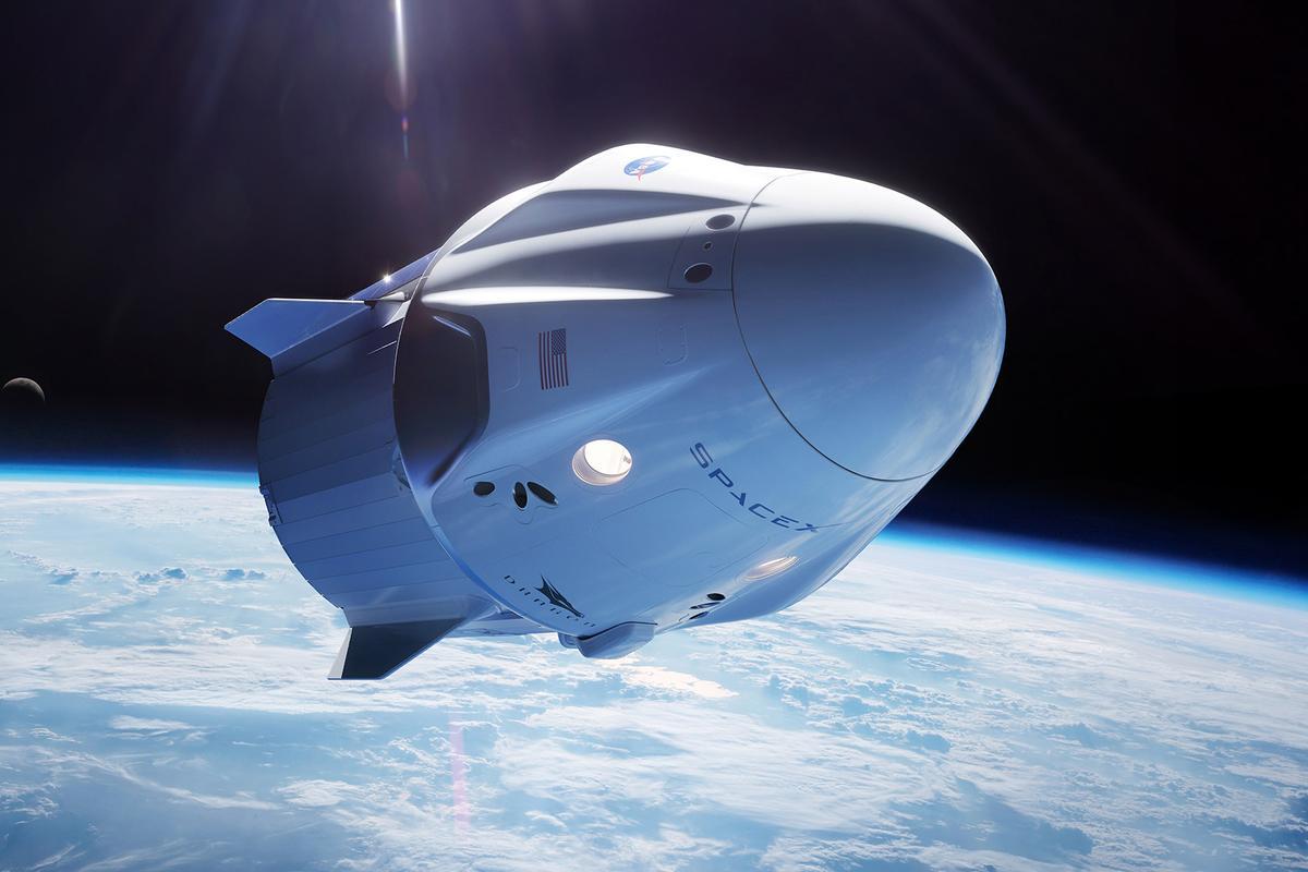 Artist's concept of the Crew Capsule in orbit
