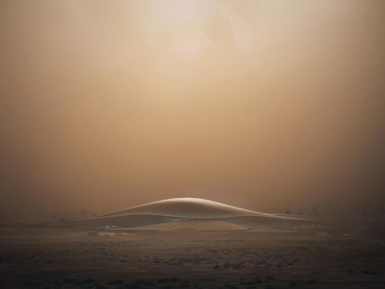 Bee'ah headquarters' dune-like design is meant to blend in with the local desert landscape