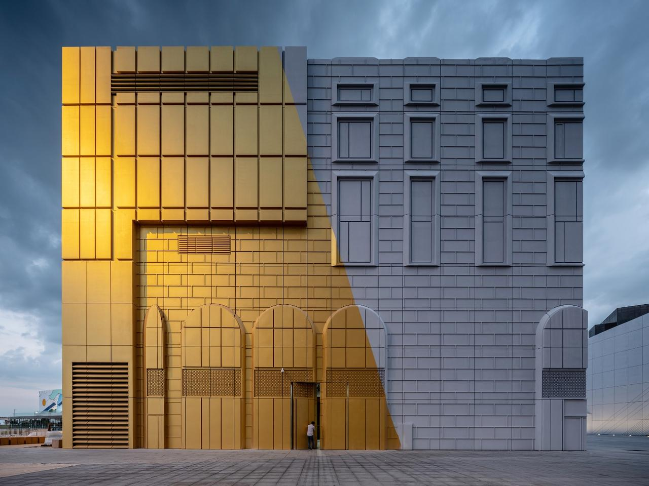 The Imprint's facades incorporate stylistic elements of the surrounding buildings