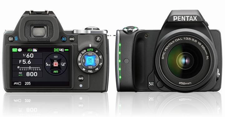 The Pentax K-S1 features an illumination interface with LEDs built into the camera body