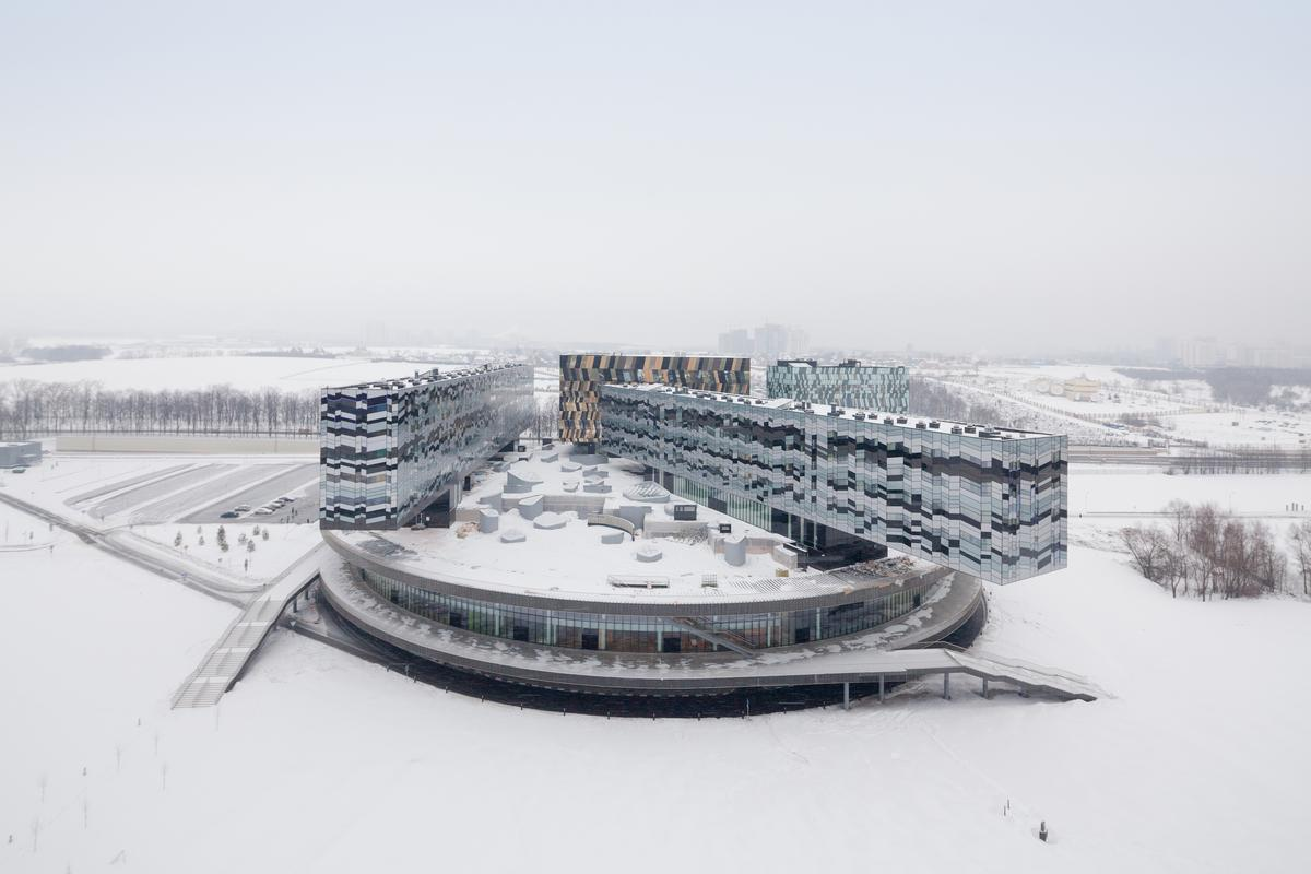 The Moscow School of Management Skolkovo is a business school in Russia. The project was completed in 2010 and is one of David Adjaye's projects highlighted by RIBA as it awards the Royal Gold Medal