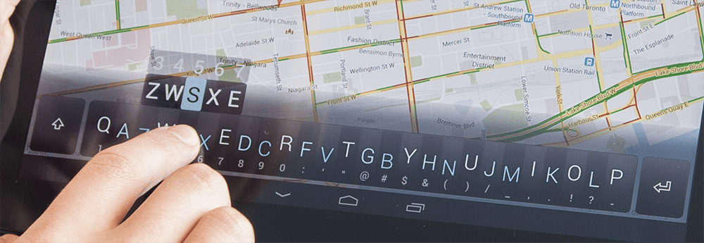 The condensed key design could be used on smartphones, tablets and more