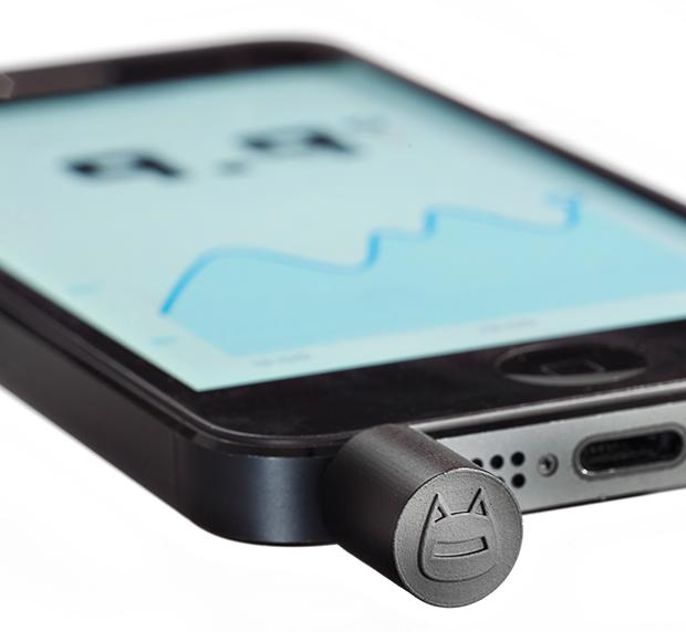 The Thermodo is a plug-in thermometer for use with mobile devices