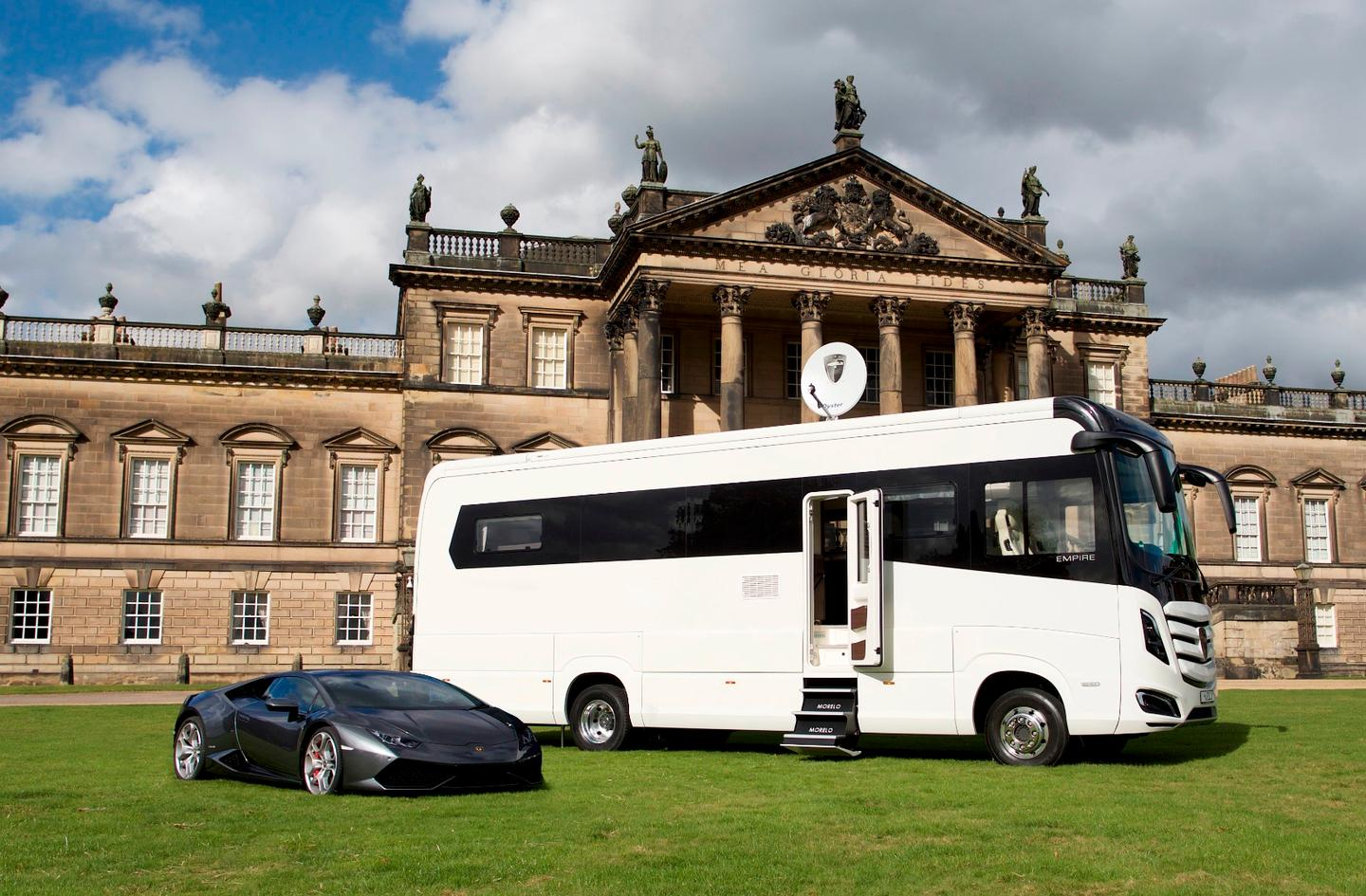 Morelo says the Empire Liner is like the Lamborghini of motor homes