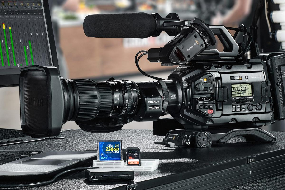 The Blackmagic URSA Broadcast 4K camera can record footage at up to 3,840 x 2,160 resolution and 60 frames per second
