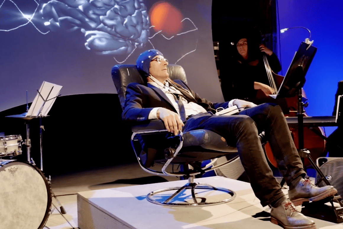 The Encephalophone, a musical instrument that can be played using the power of your mind.
