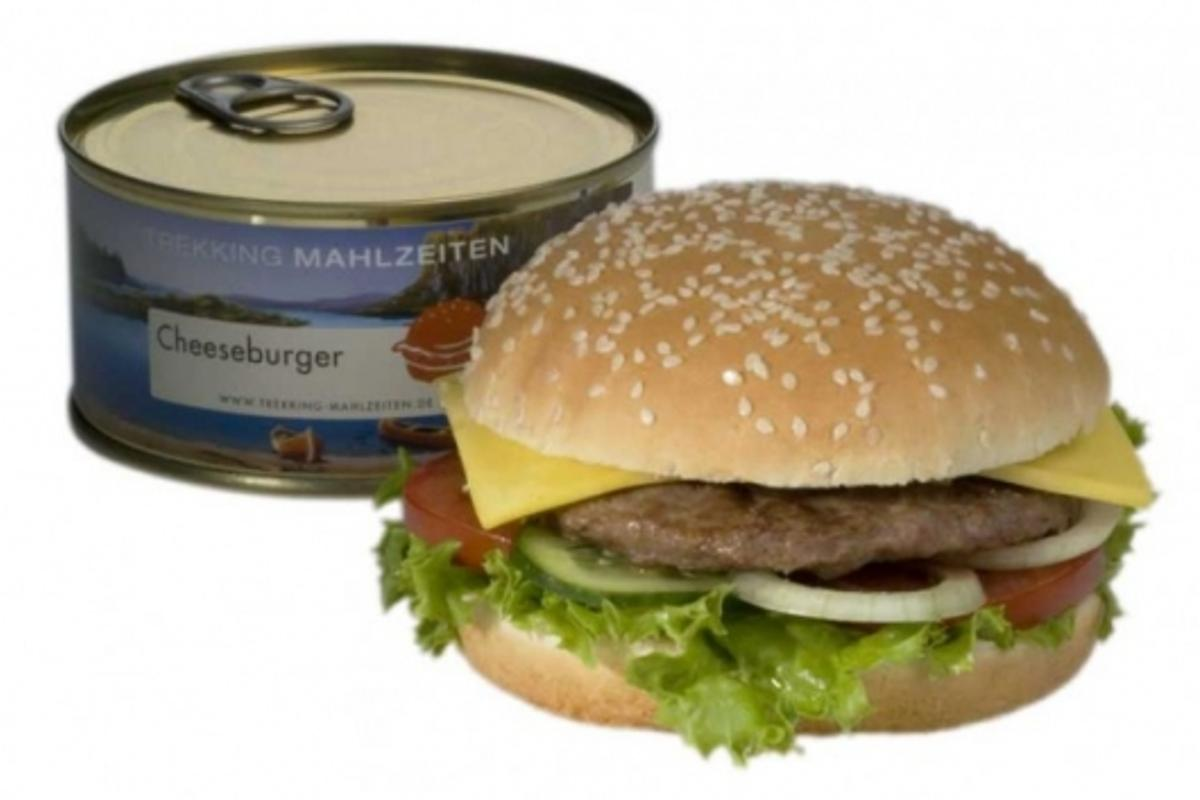 Trekking-Mahlzeiten's canned Cheeseburger