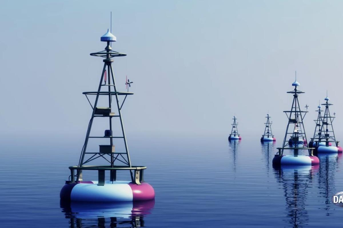 TUNA uses a series of buoys and fiber optic cables to create temporary data networks for the US Navy
