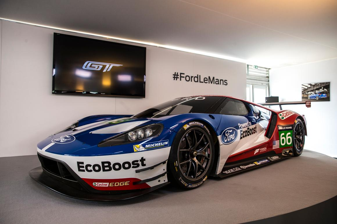 The all-new Ford GT race car