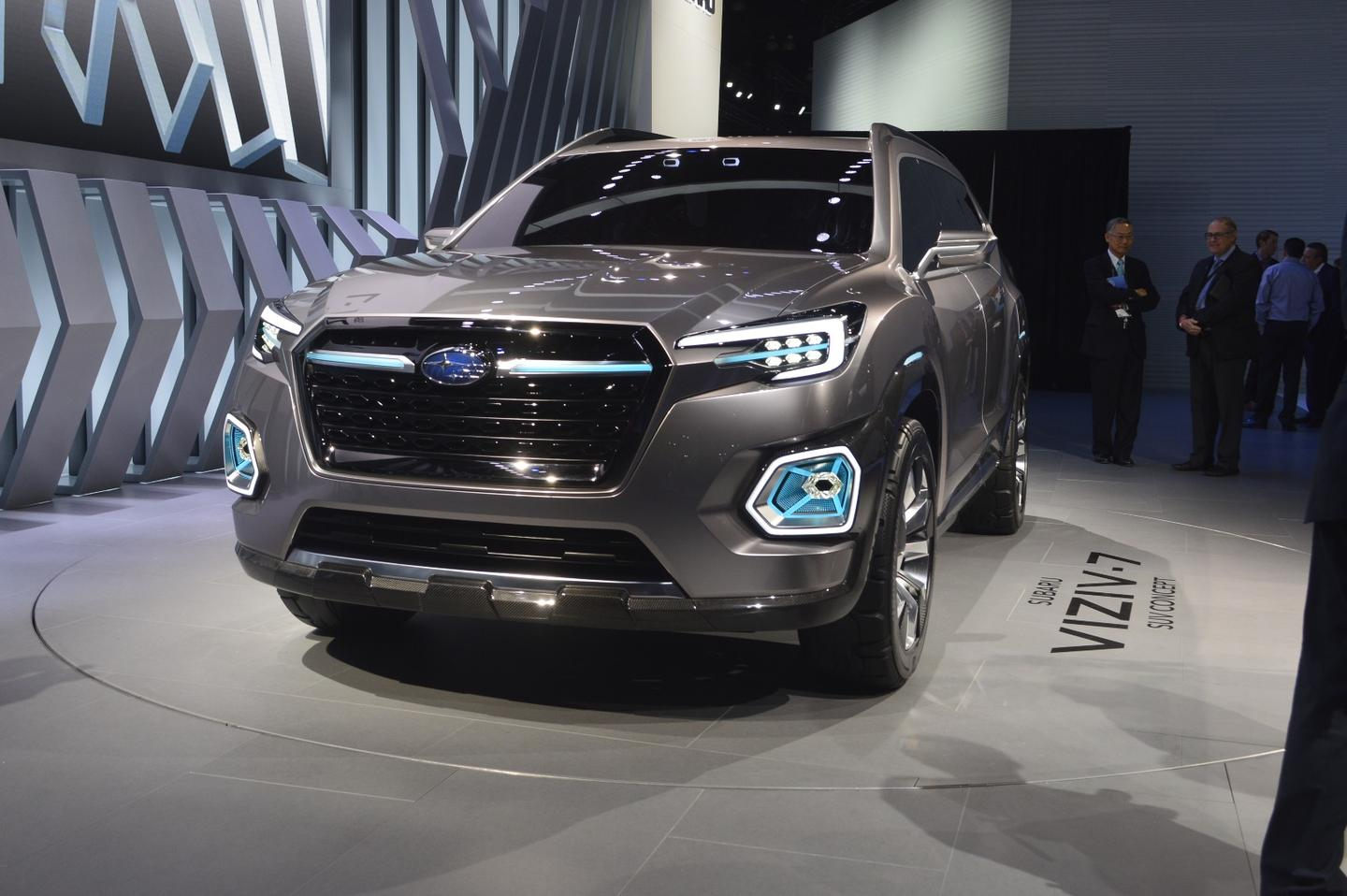 The Viziv-7 has the same hawk eye headlamps we've seen on previous Subaru concepts