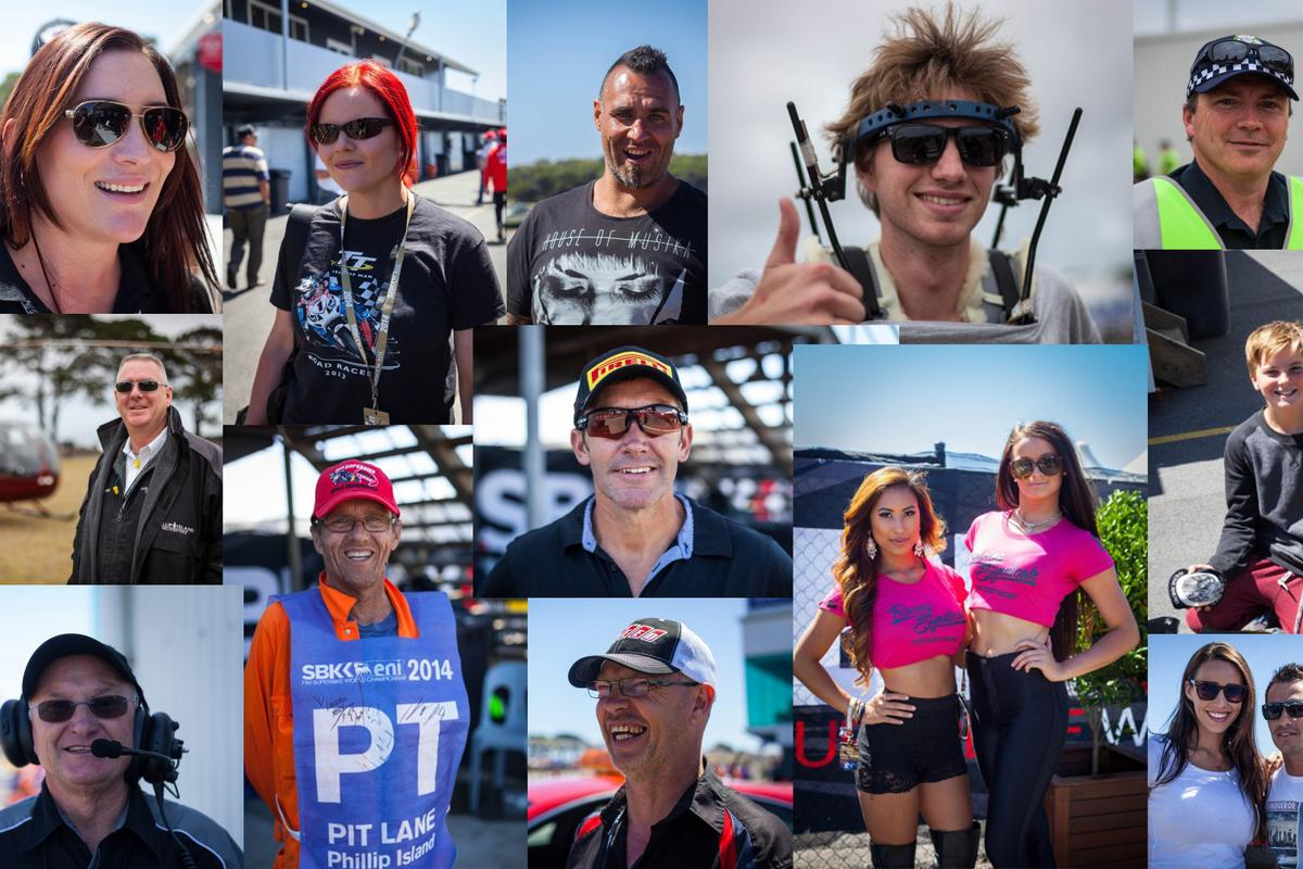 Some of the hundreds of behind-the-scenes faces that contribute to a successful World Superbikes round at Phillip Island