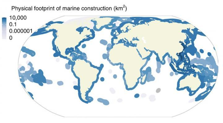 Scientists have pieced together the first global map of marine construction