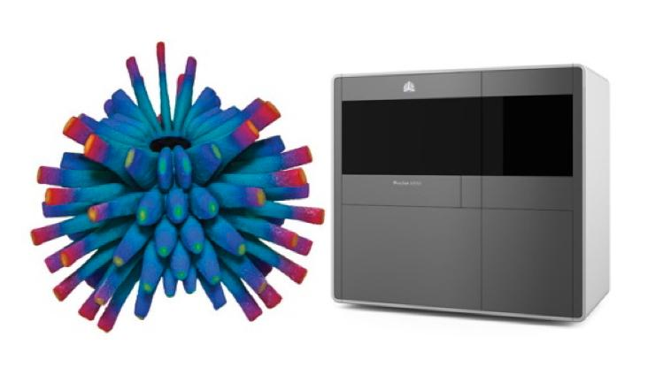 The ProJet 4500 3D printer, and one of its creations