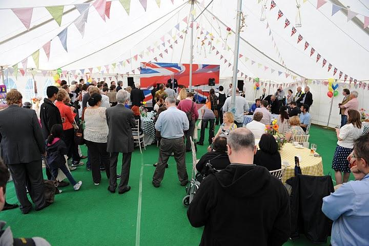 Press and supporters gather for the Google-supported Bletchley Park fundraiser on August 4 (Photo: Google)