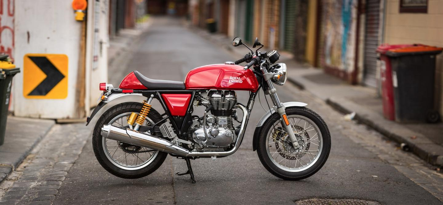 Royal Enfield's Continental GT: looks and presence to spare. (Photo: Loz Blain/Gizmag)